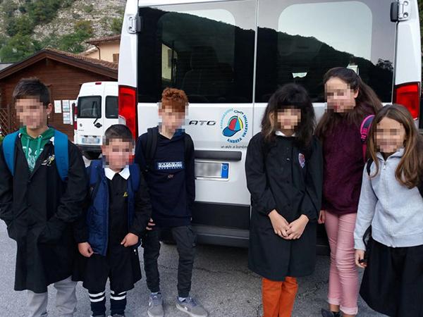 Scuolabus del comune di Monte Caval